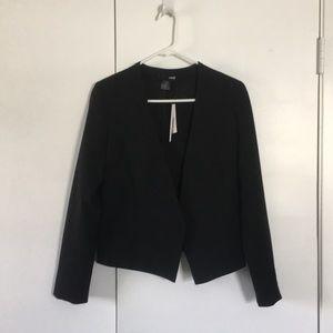 Aqua cropped tailored blazer